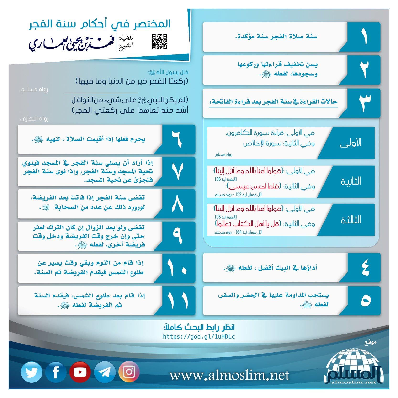ج ن ي الث م ر في أ حكام س ن ة الف ج ر موقع المسلم
